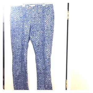 Michael Kors size 16 Blue/White summer work pants